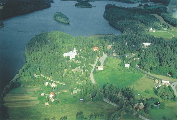 Nummen kirkonkylä, ilmakuva.